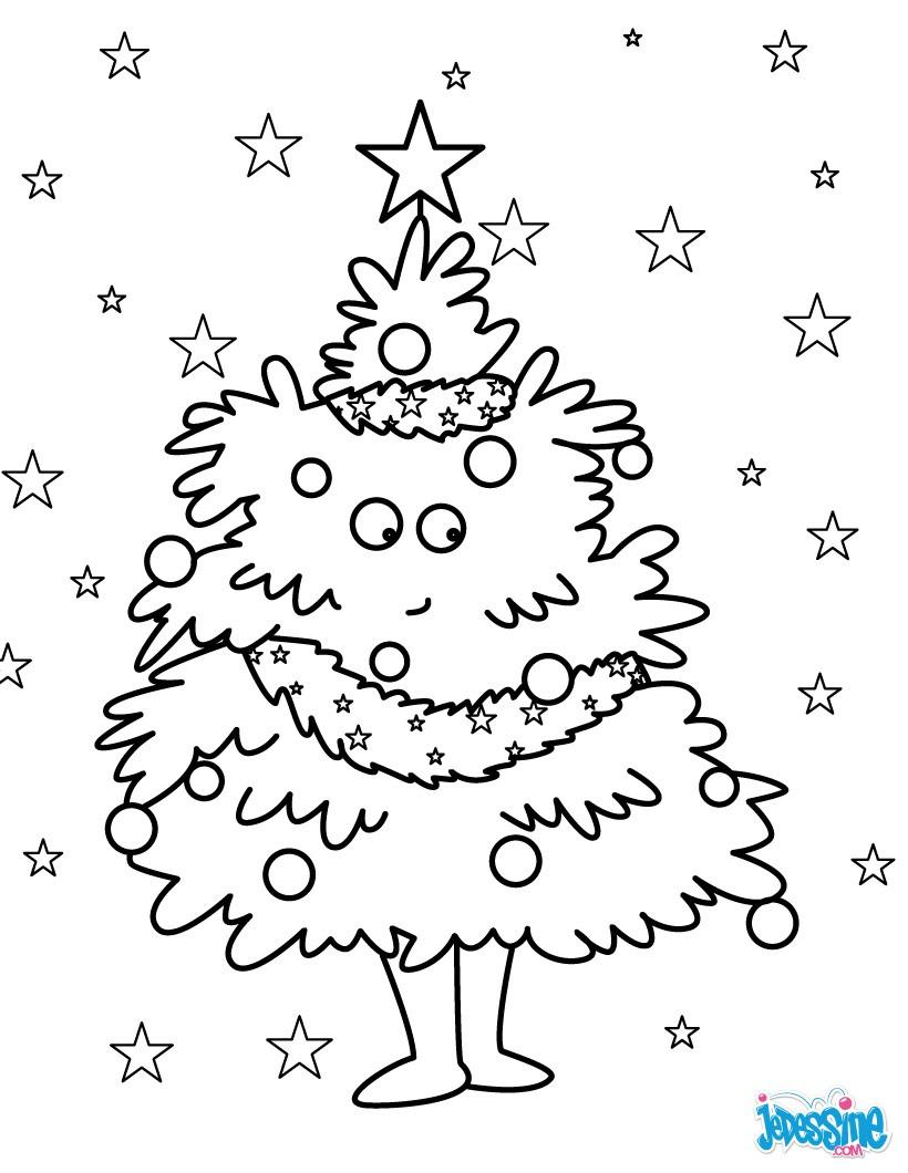 Coloriage De Sapins De Noël - 25 Coloriages De Noël dedans Coloriage De Sapin De Noel A Imprimer Gratuit