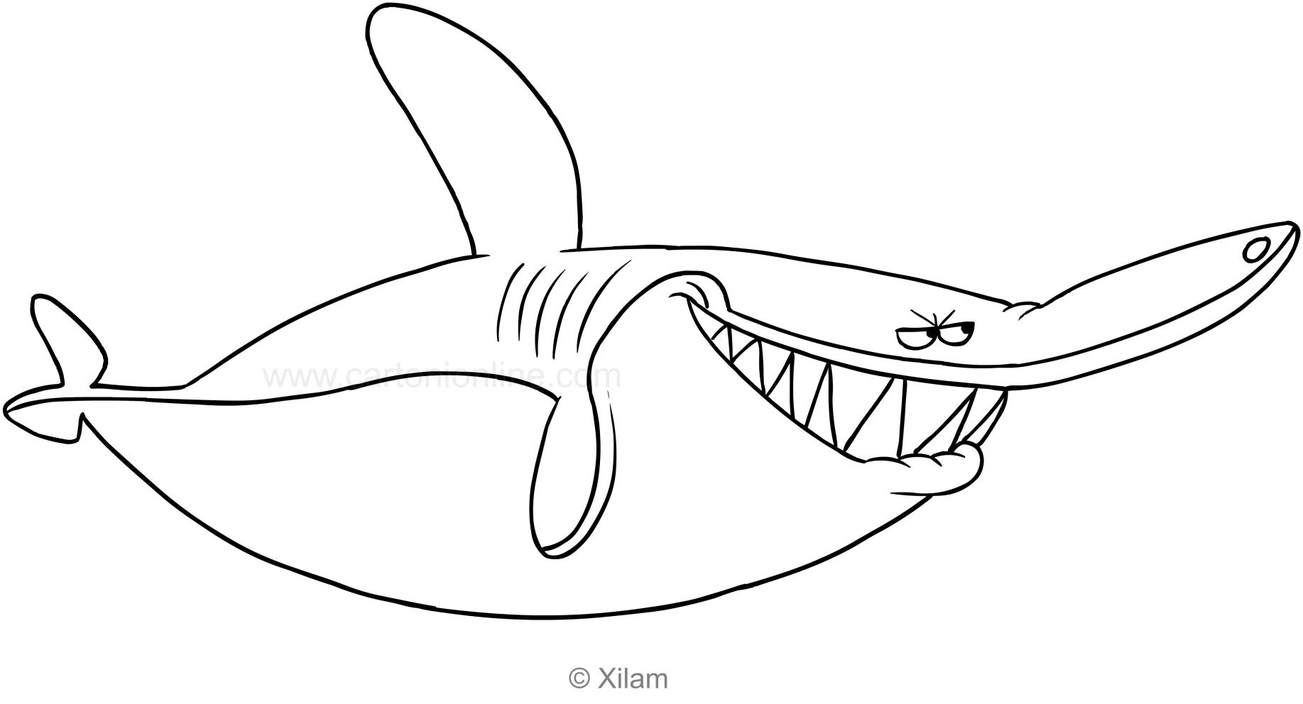 Coloriage De Sharko Le Requin tout Dessin De Requin À Imprimer