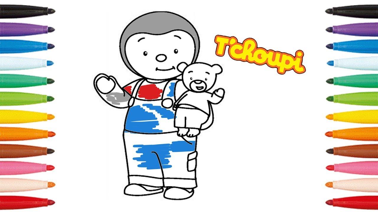Coloriage De T'choupi - Comment Dessiner T'choupi - How To Draw dedans Coloriage De Tchoupi Et Doudou