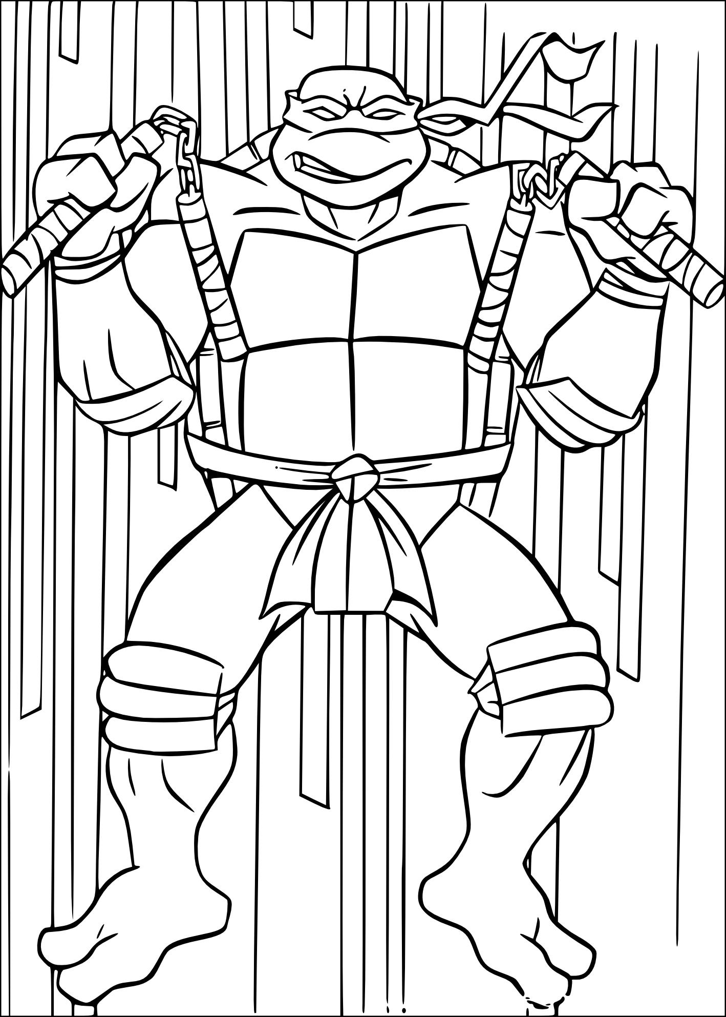 Coloriage De Tortue Ninja Michelangelo À Imprimer Sur destiné Dessin De Tortue Ninja