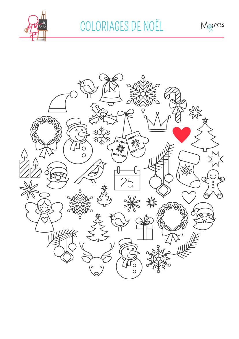 Coloriage Des Images De Noël - Momes intérieur Imagier Noel Maternelle