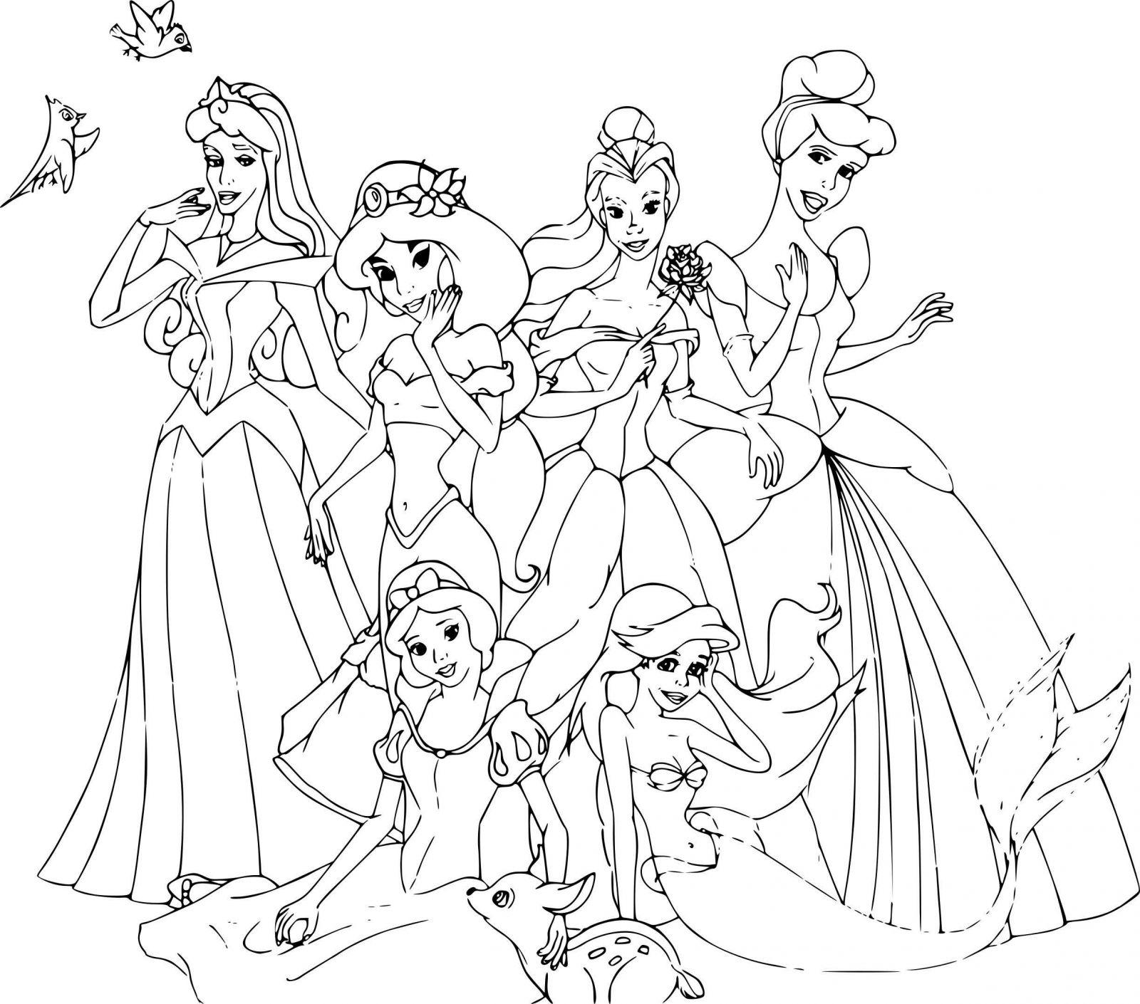 Coloriage Des Princesses Disney A Imprimer   Coloriages À concernant Coloriage Princesses Disney À Imprimer