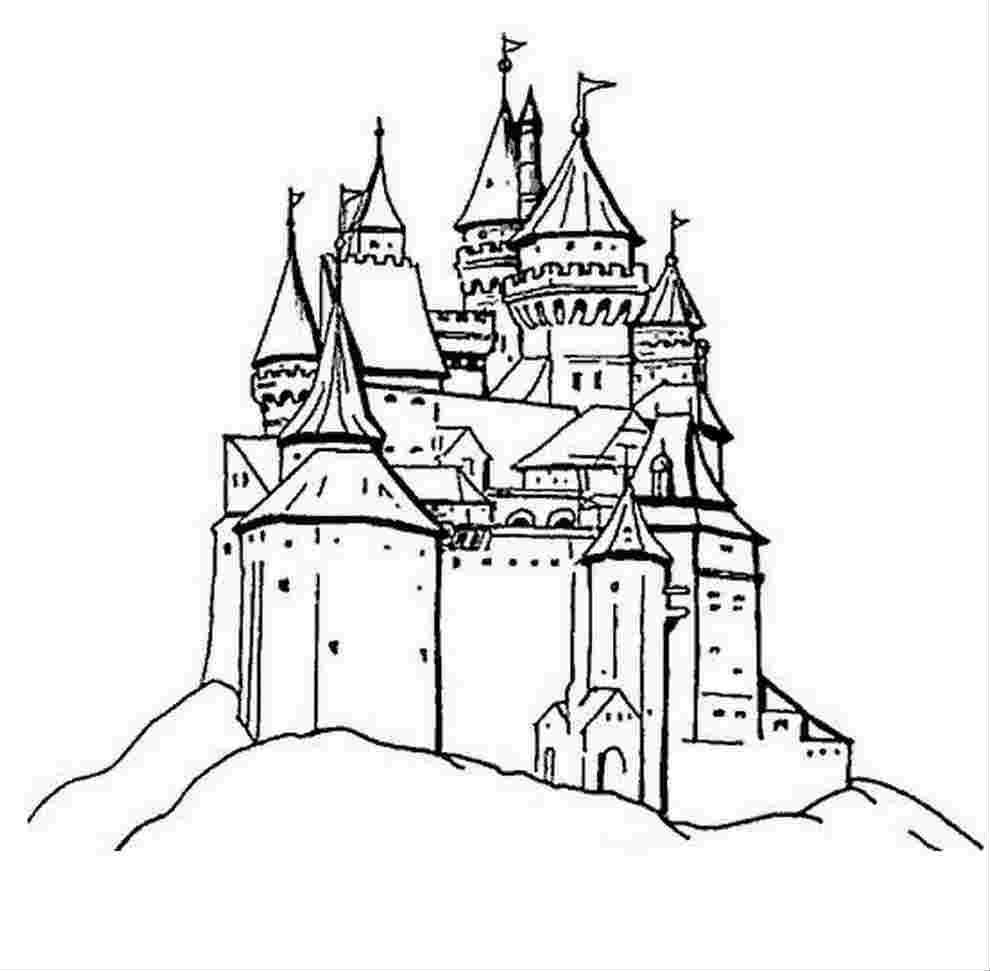 Coloriage Dessin Châteaux À Imprimer Princesse encequiconcerne Chateau De Princesse Dessin