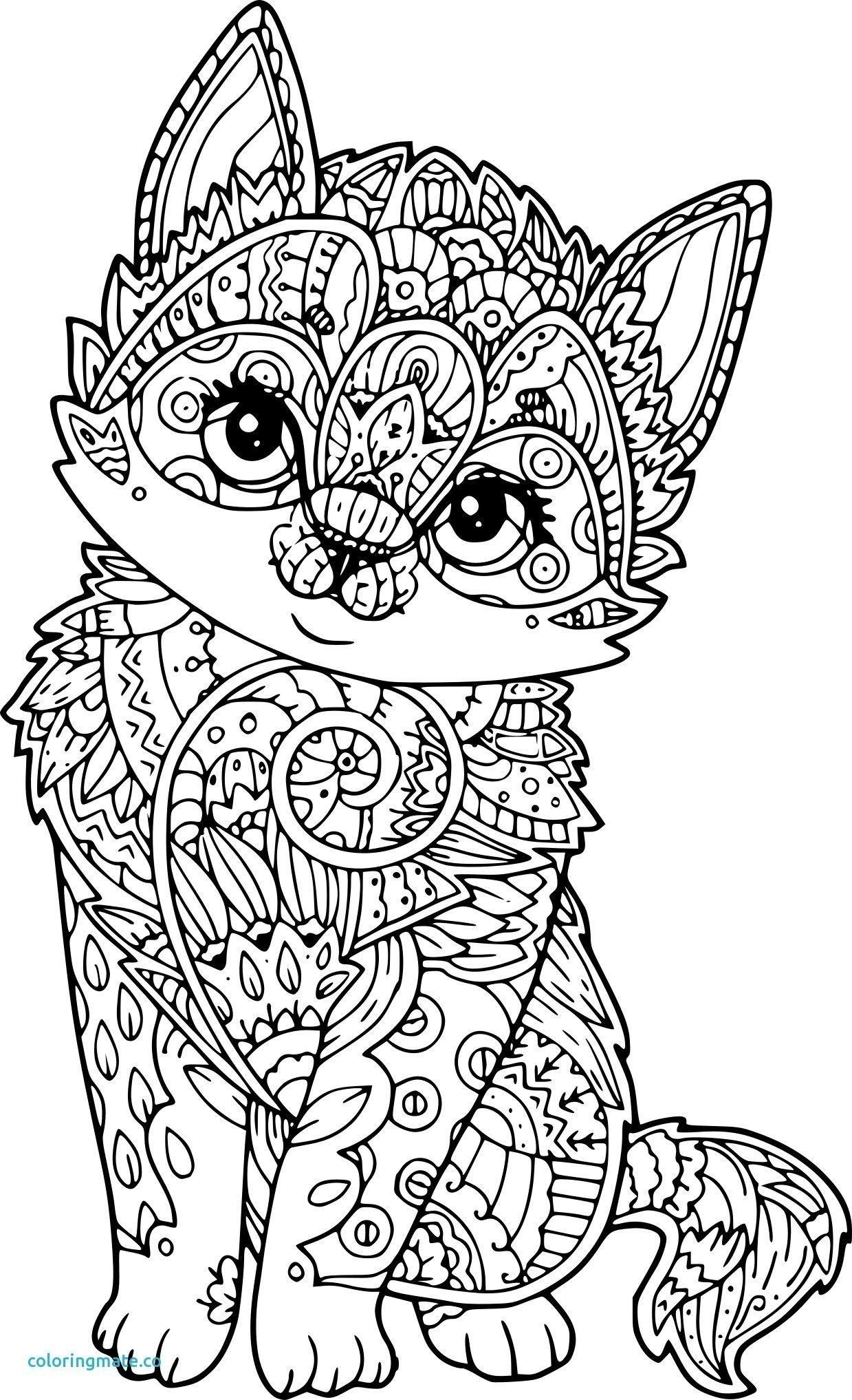 Coloriage Difficile De Chat à Mandala À Imprimer Facile