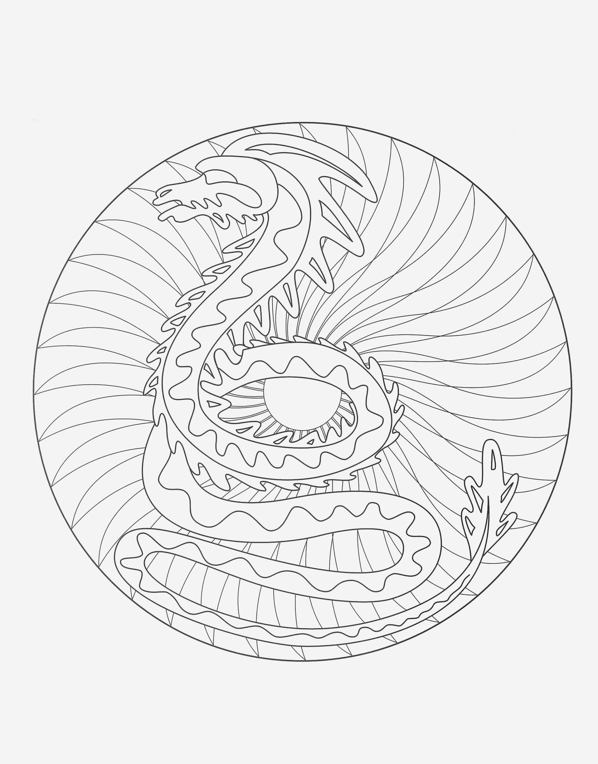 Coloriage Difficile Dragon - Coloriages Gratuits pour Coloriage De Mandala Difficile A Imprimer