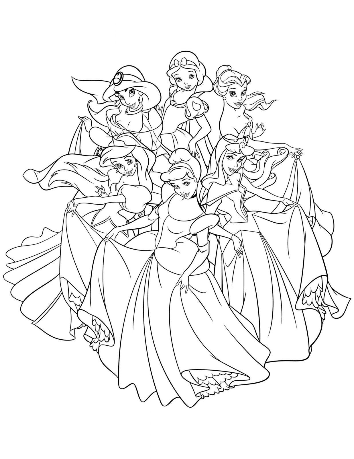 Coloriage Disney À Imprimer Princesse   Coloriages À destiné Coloriage Princesses Disney À Imprimer