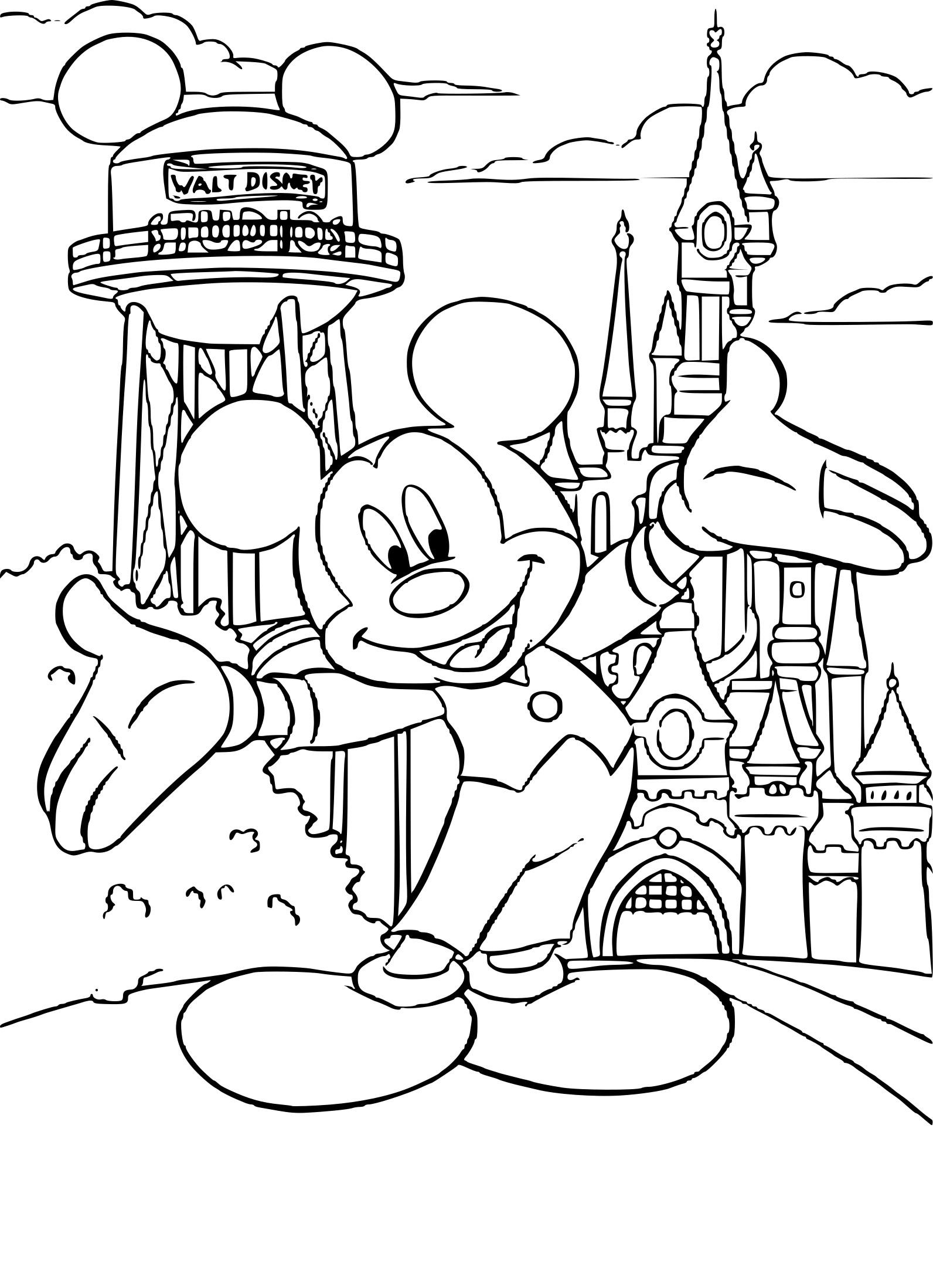 Coloriage Disneyland À Imprimer Sur Coloriages à Dessin Walt Disney À Imprimer