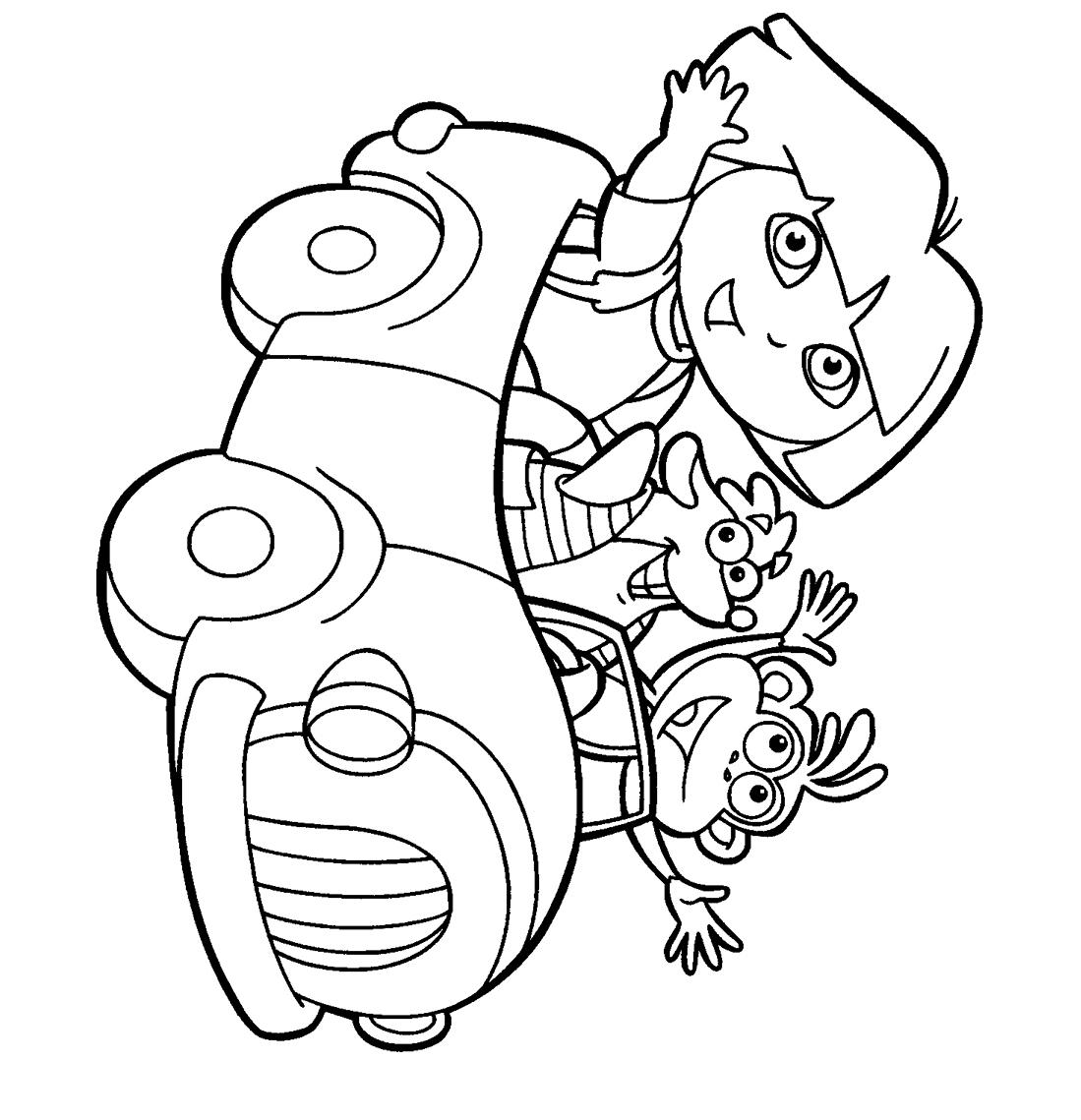 Coloriage Dora A Faire En Ligne. Dora_Coloriage_03. Dora destiné Coloriage Dora Princesse