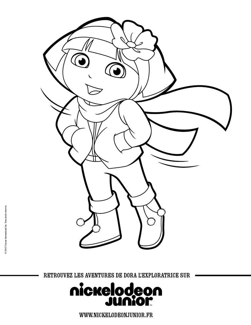 Coloriage Dora En Hiver | Coloriage Dora, Coloriage, Dora serapportantà Coloriage Dora Princesse