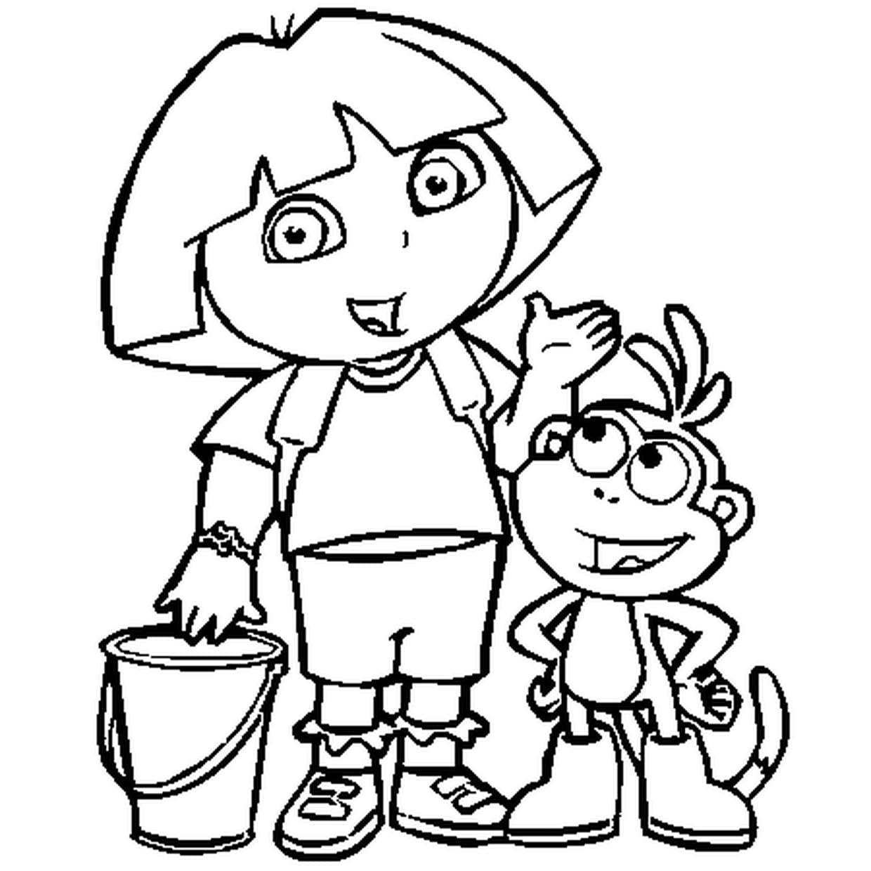 Coloriage Dora L'exploratrice En Ligne Gratuit À Imprimer tout Coloriage Dora Princesse