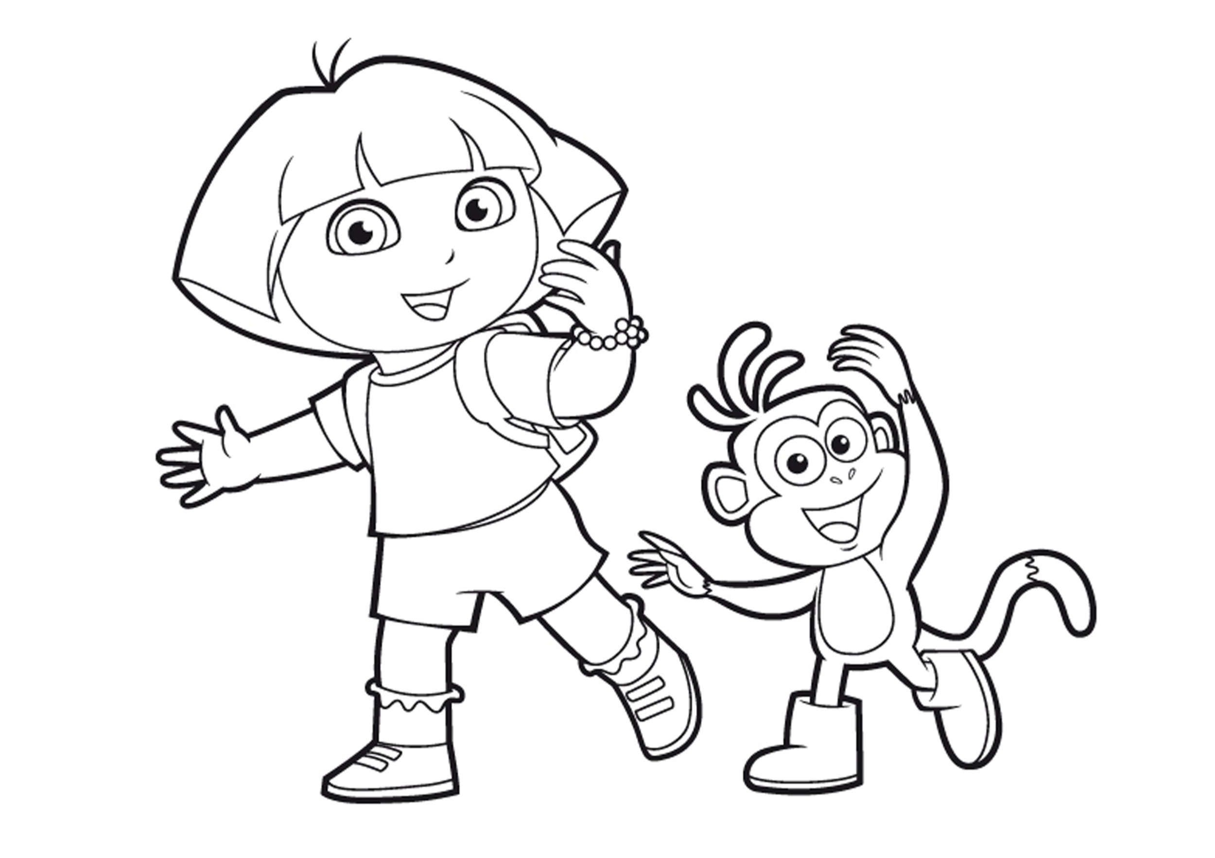Coloriage Dora pour Coloriage Dora Princesse