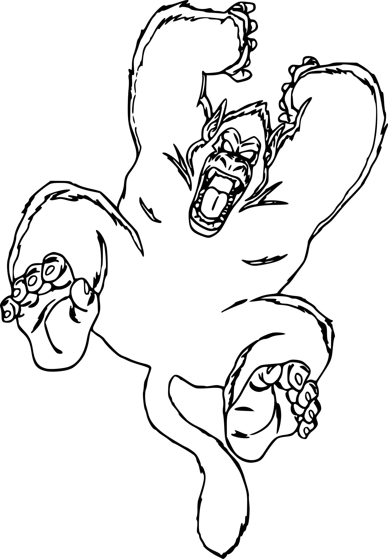 Coloriage Dragon Ball Z Gorille À Imprimer Sur Coloriages avec Coloriage Gorille