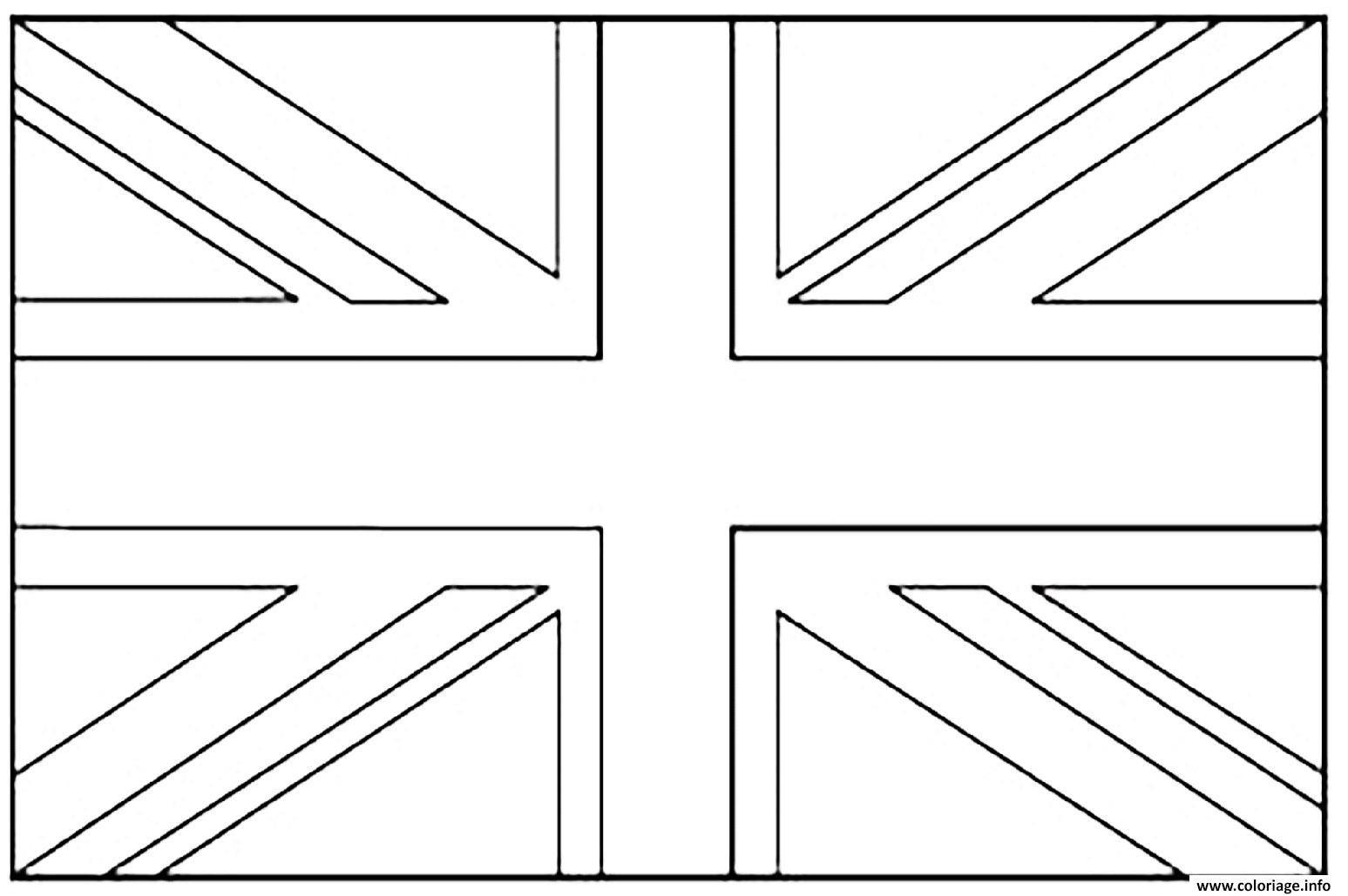 Coloriage Drapeau Angleterre Jecolorie | Drapeau, Modèle De serapportantà Dessin De Angleterre