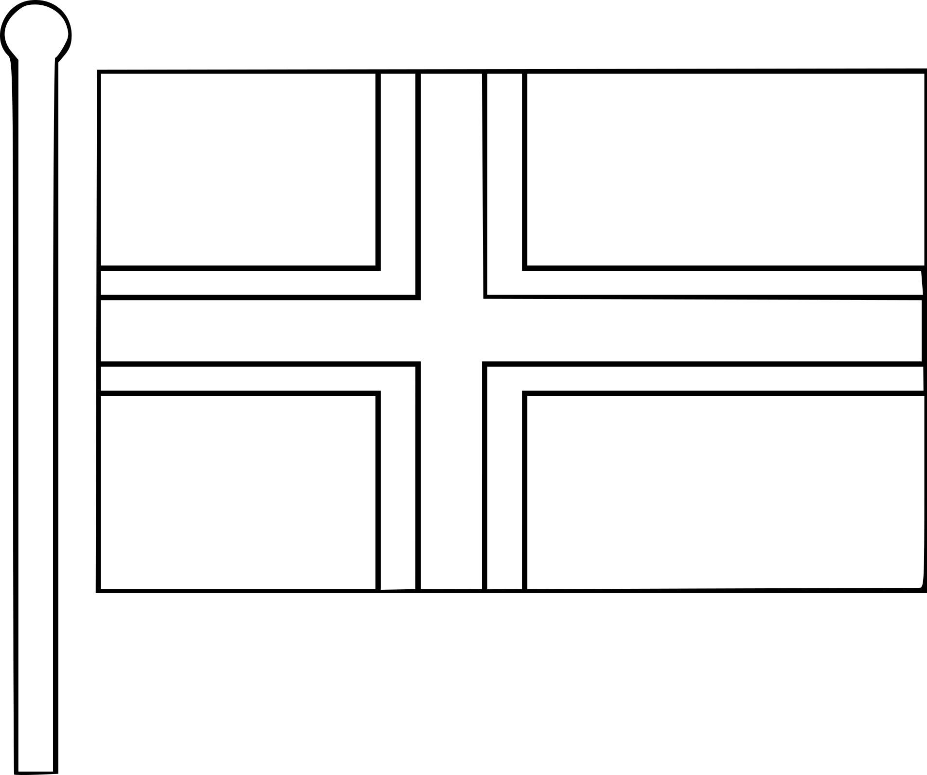 Coloriage Drapeau De Norvège À Imprimer avec Drapeaux Européens À Imprimer