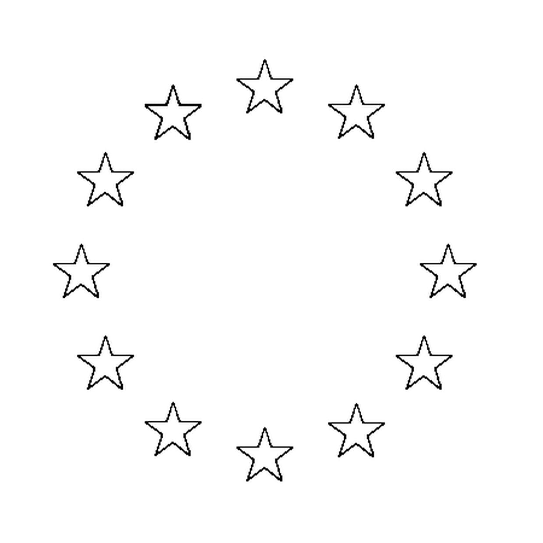 Coloriage Drapeau Union Européenne En Ligne Gratuit À Imprimer avec Drapeaux Européens À Imprimer