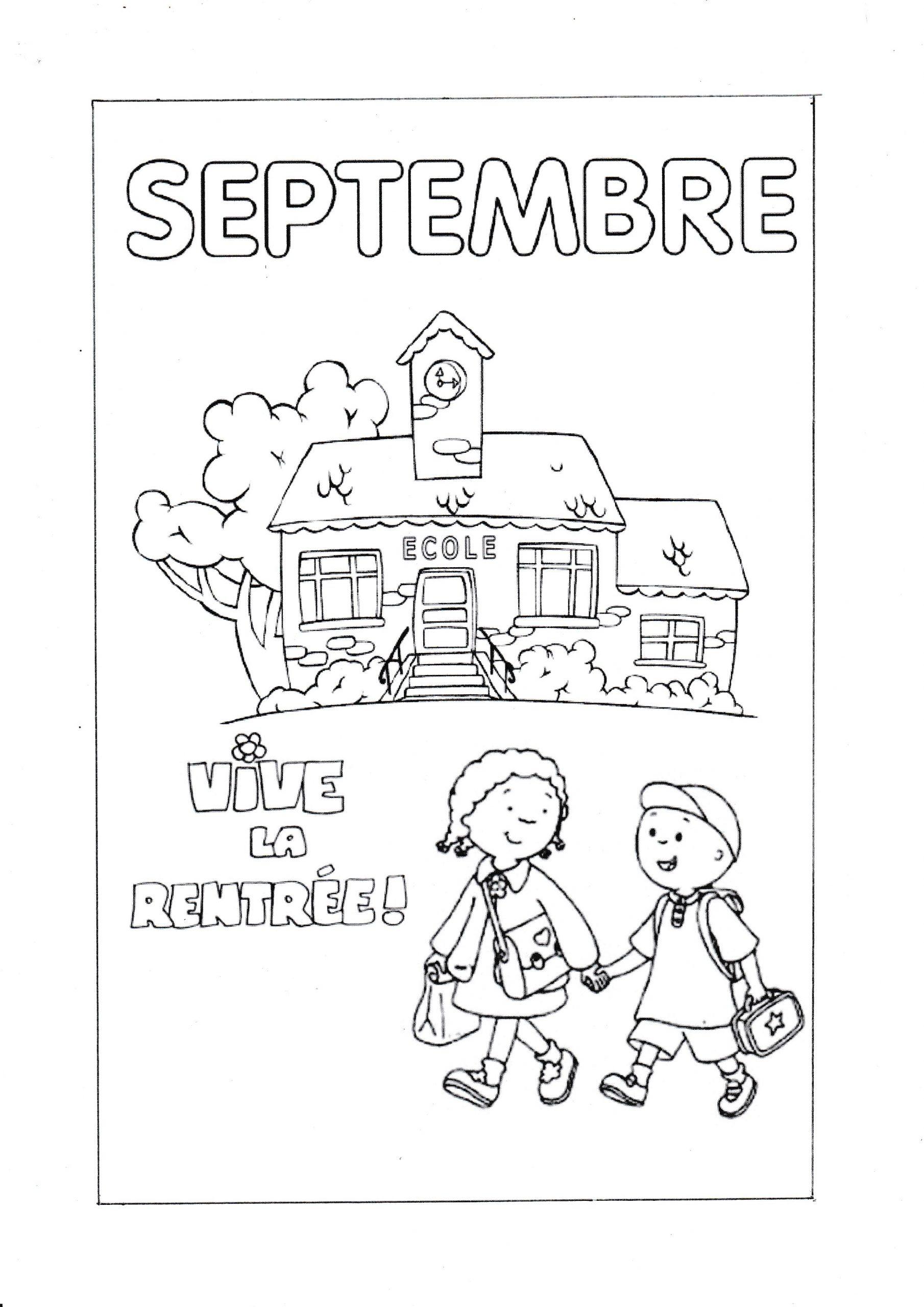 Coloriage Du Mois De Septembre - La Classe De Wjl encequiconcerne Mois À Colorier Maternelle