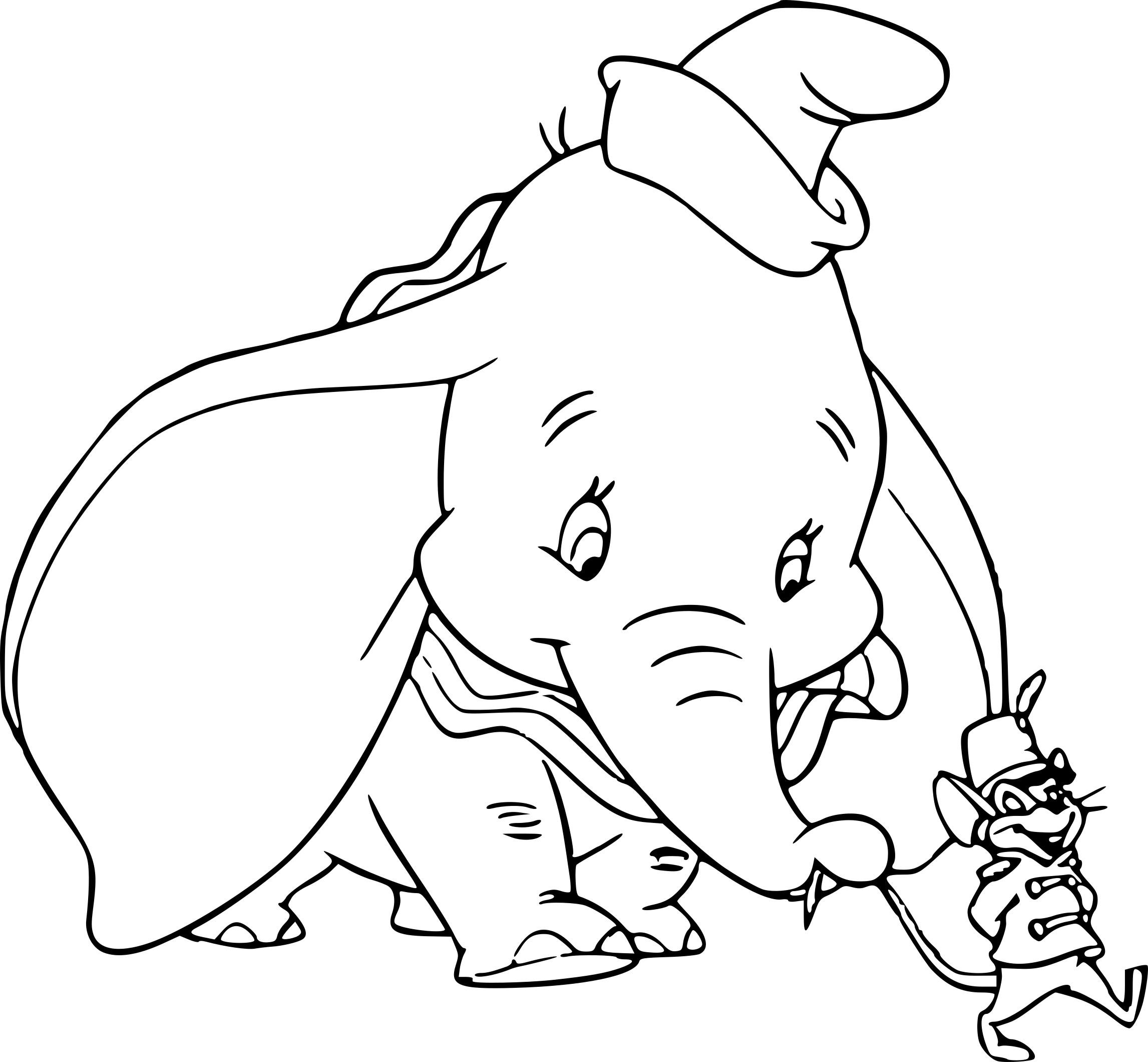 Coloriage Dumbo Et Le Rat Timothy À Imprimer Sur Coloriages dedans Dessin Dumbo