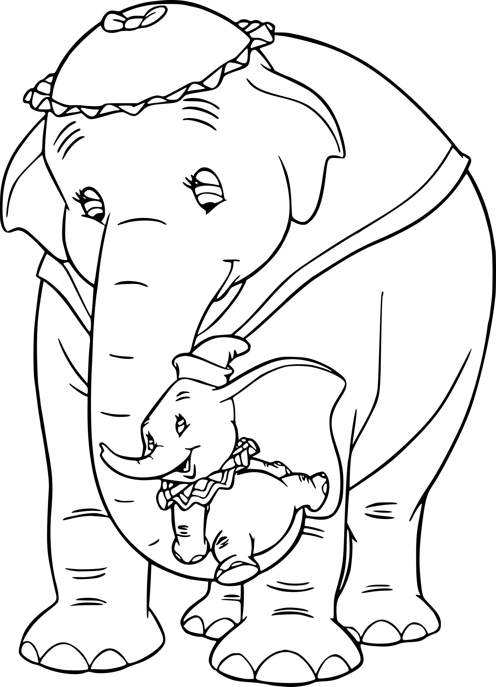 Coloriage Dumbo Et Sa Mère À Imprimer Sur Coloriages avec Dessin Dumbo
