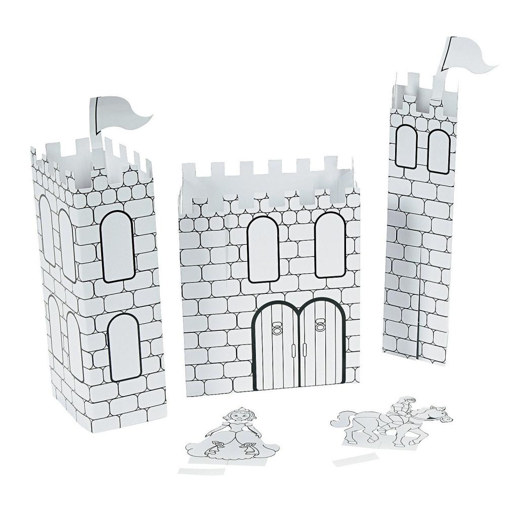 Coloriage D'un Château De Princesse Ou De Chevalier à Coloriage À Imprimer Chateau De Princesse