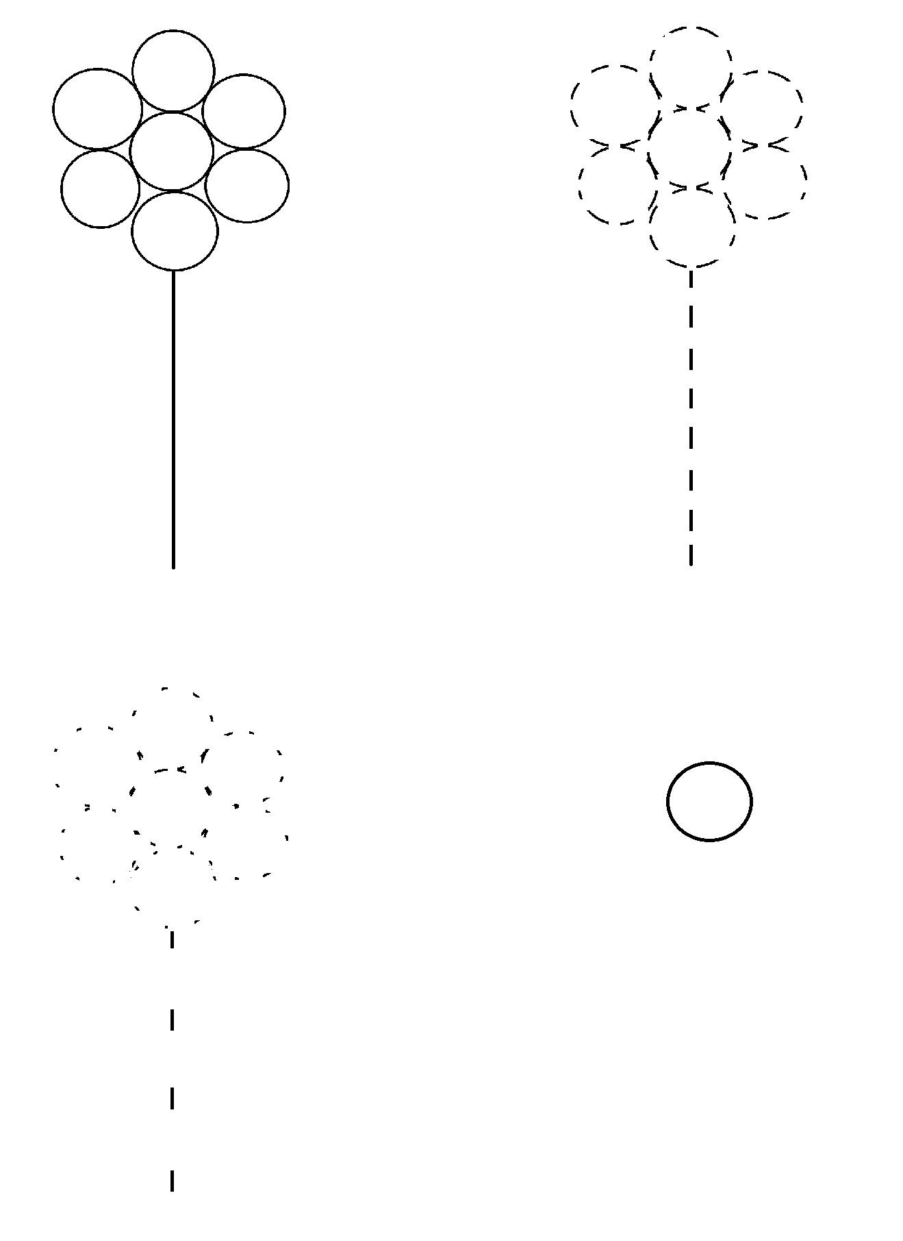 Coloriage D'une Fleur Selon Le… tout Graphisme En Petite Section