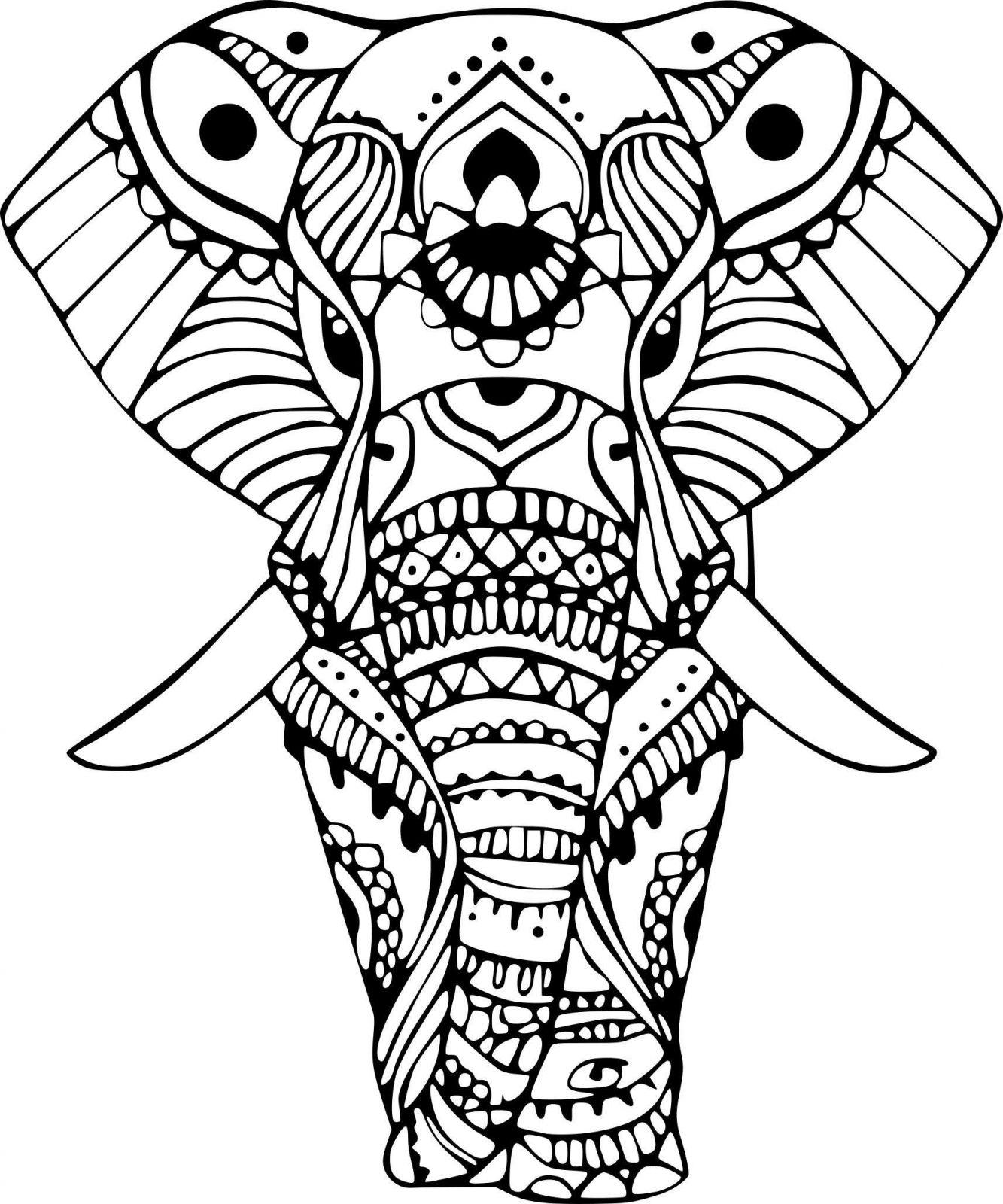 Coloriage Elephant Pour Adulte | Coloriages À Imprimer Gratuits à Dessin A Imprimer Pour Adulte