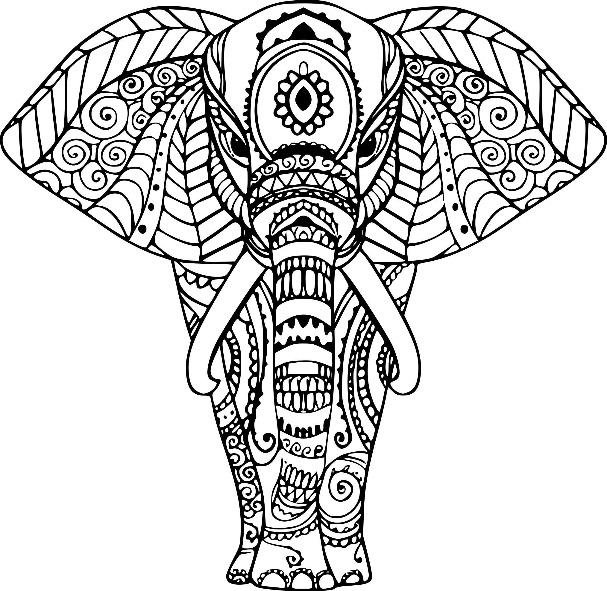 Coloriage Elephant Zen À Imprimer Sur Coloriages à Image Zen A Imprimer