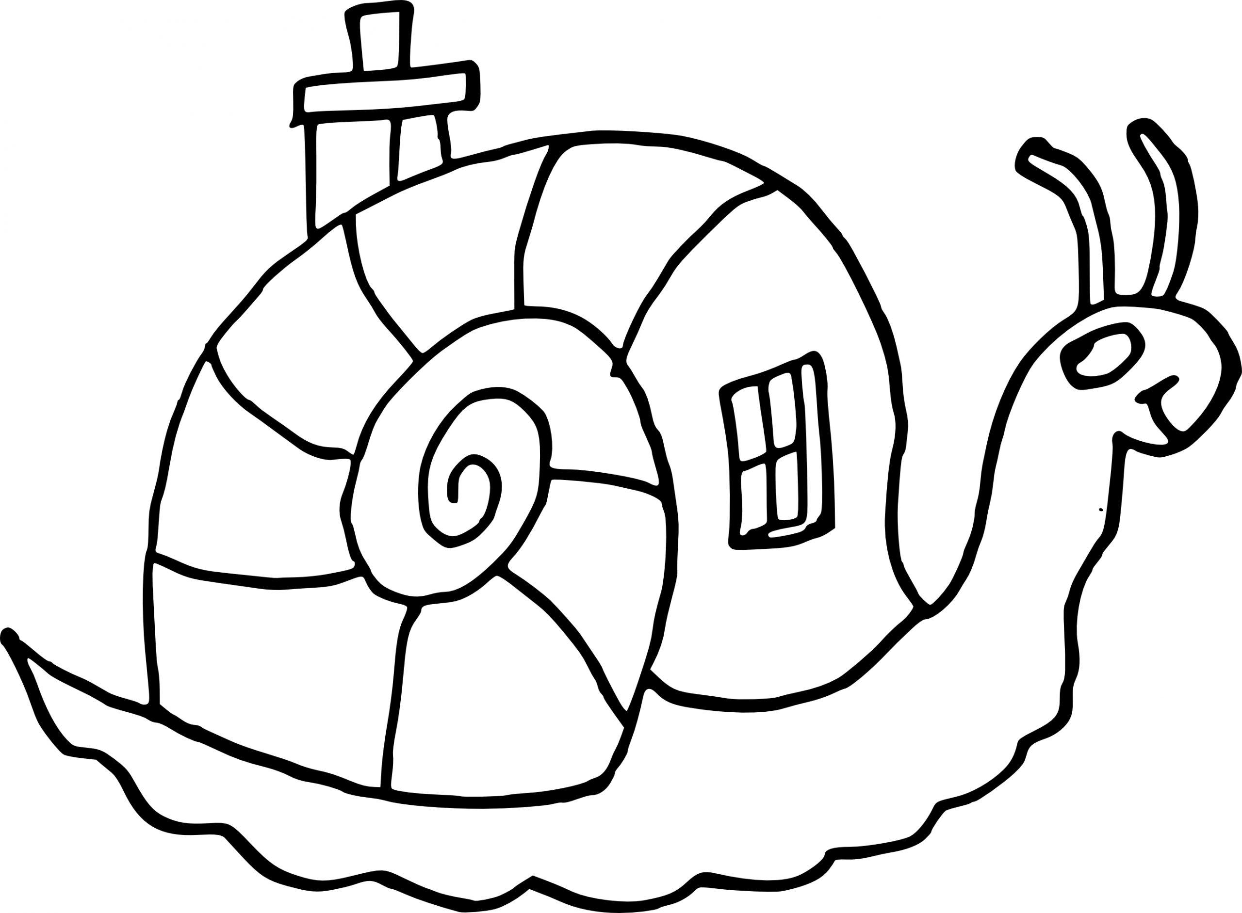Coloriage Escargot Maison À Imprimer avec Jeux Gratuit Escargot