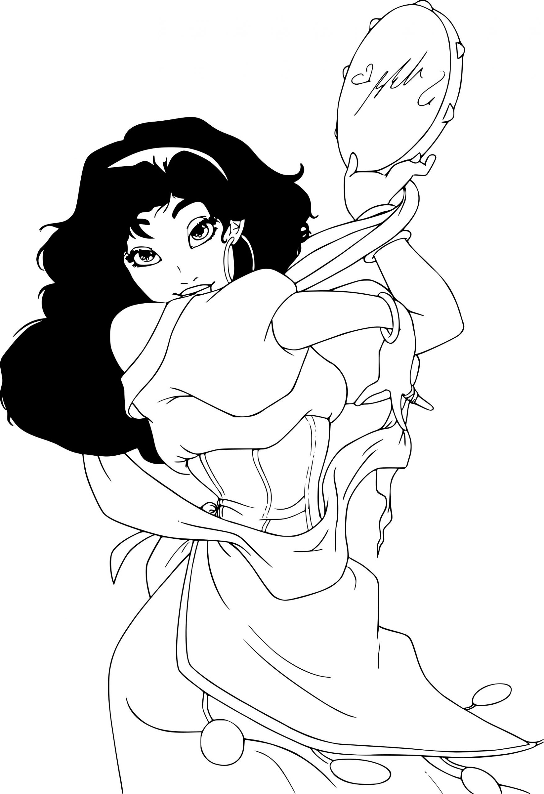 Coloriage Esmeralda Disney À Imprimer serapportantà Dessin Walt Disney À Imprimer