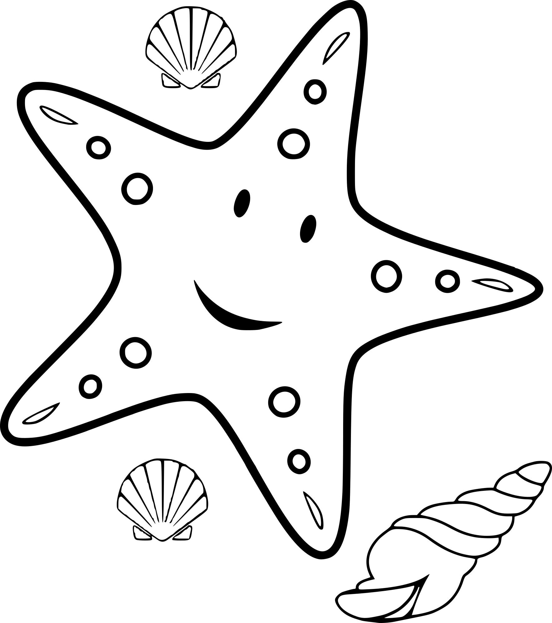 Coloriage Etoile Et Coquillage De Mer À Imprimer Sur encequiconcerne Coloriage Sur La Mer À Imprimer