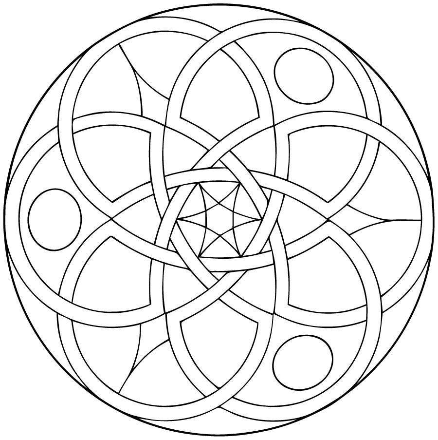 Coloriage Facile Pour Adulte À Imprimer | Coloriages À concernant Mandala À Imprimer Facile