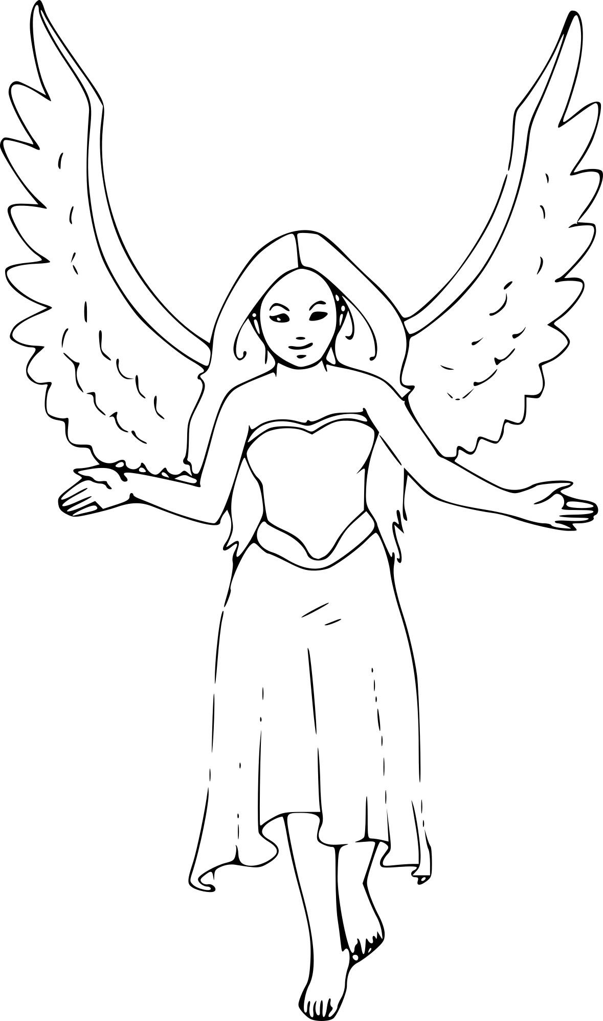 Coloriage Femme Ange À Imprimer Sur Coloriages serapportantà Ange A Colorier