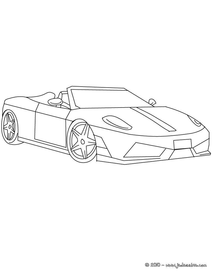 Coloriage Ferrari À Colorier - Dessin À Imprimer | Cini, 2019 dedans Ferrari A Colorier