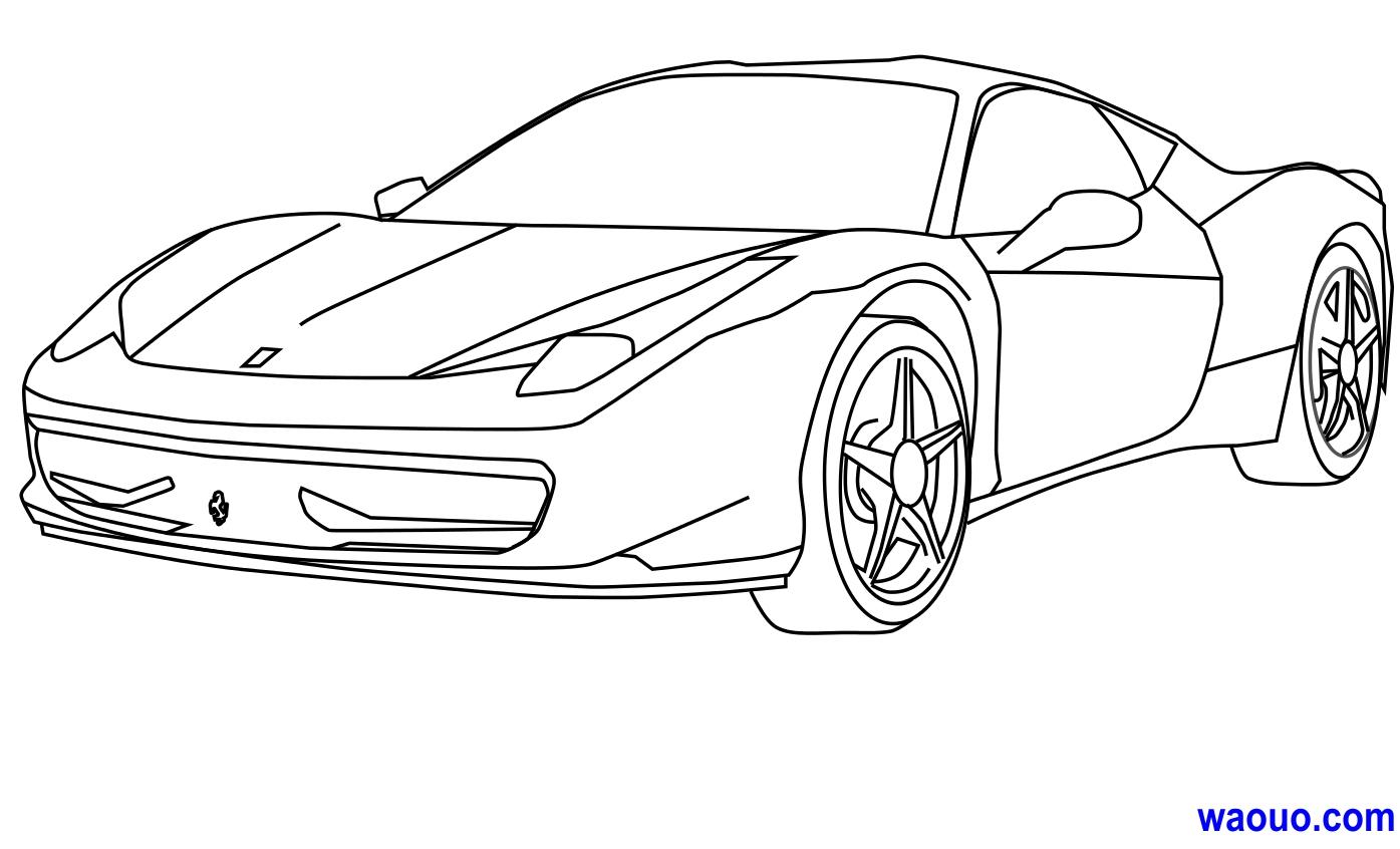 Coloriage Ferrari Gratuit À Imprimer pour Ferrari A Colorier