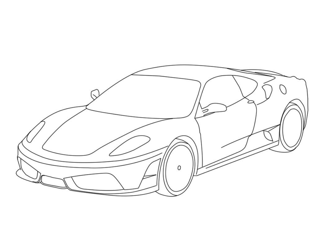 Coloriage Ferrari - Les Beaux Dessins De À Imprimer Et Colorier tout Ferrari A Colorier