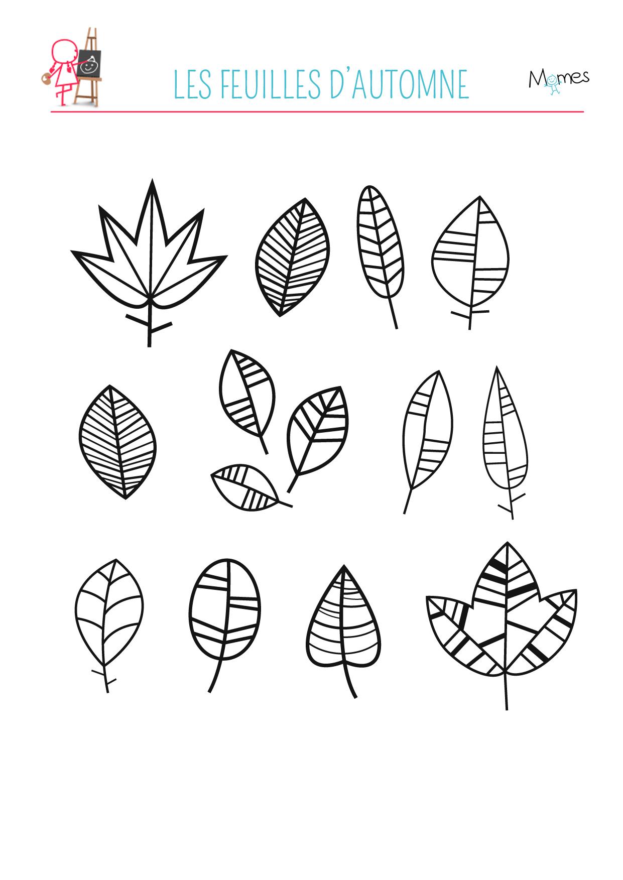Coloriage Feuilles D'automne - Momes intérieur Dessin De Feuille D Automne