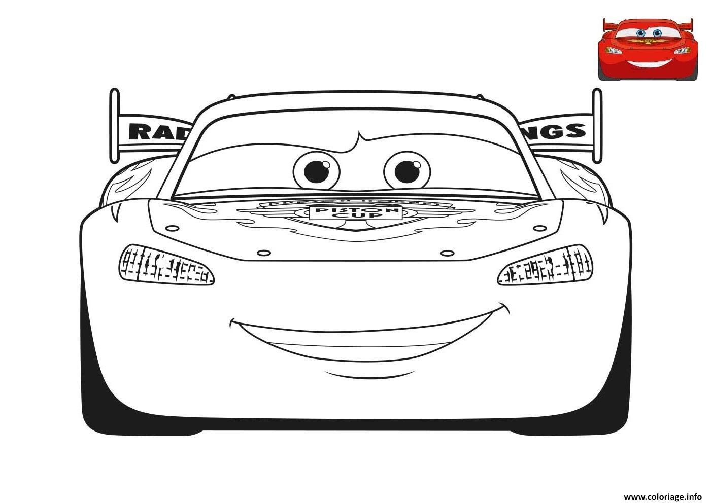 Coloriage Film Cars 3 Flash Mcqueen Voiture Rouge Dessin tout Coloriage De Flash Mcqueen