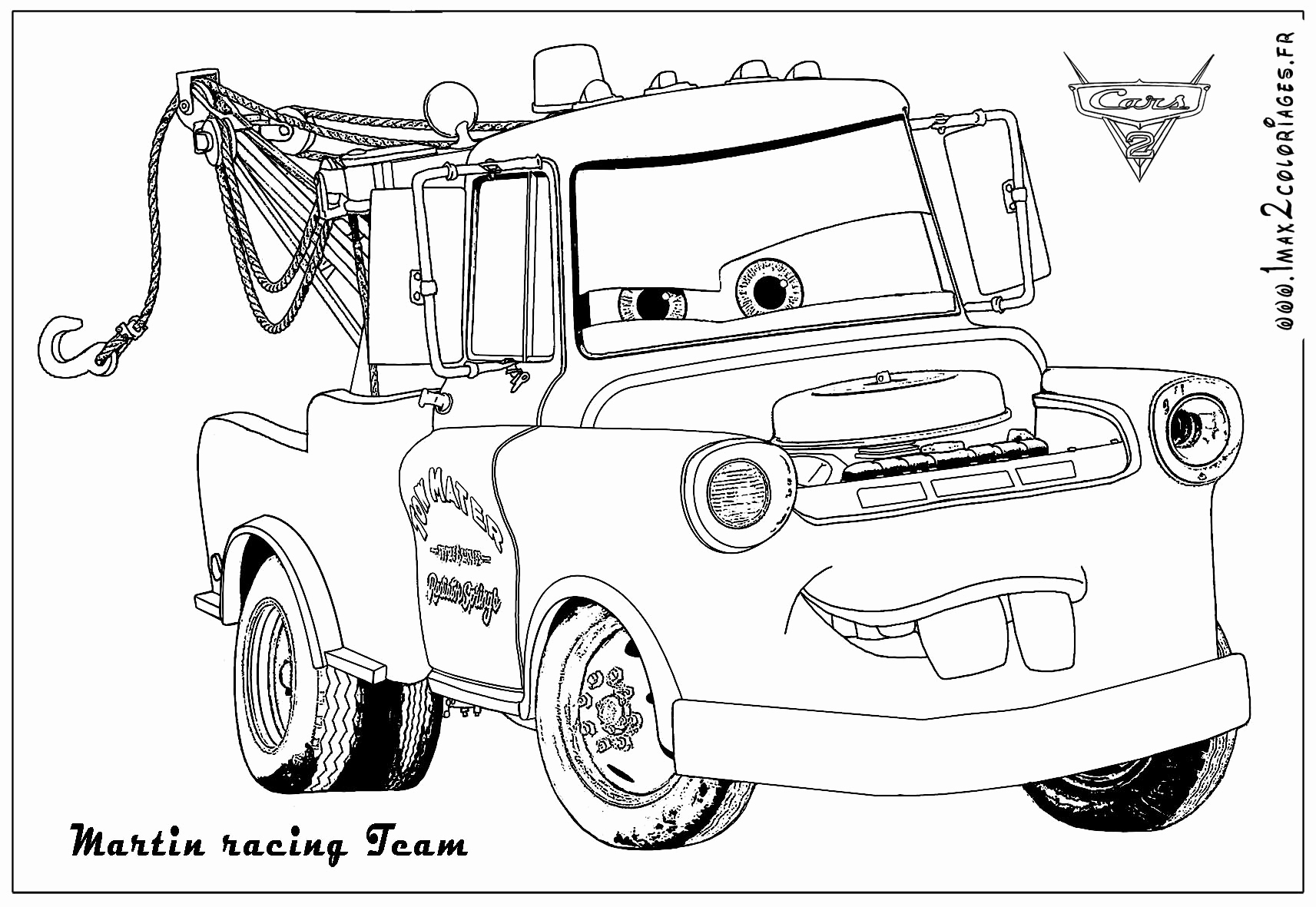 Coloriage Flash Mcqueen Martin - Coloriage Ideas serapportantà Flash Mcqueen Martin