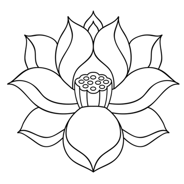 Coloriage Fleur De Lotus Zen En Ligne Gratuit À Imprimer à Dessin A Colorier De Fleur