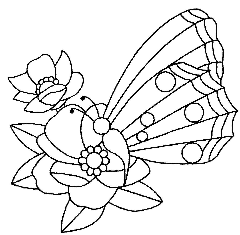 Coloriage Fleur Et Papillon tout Dessin Papillon À Colorier