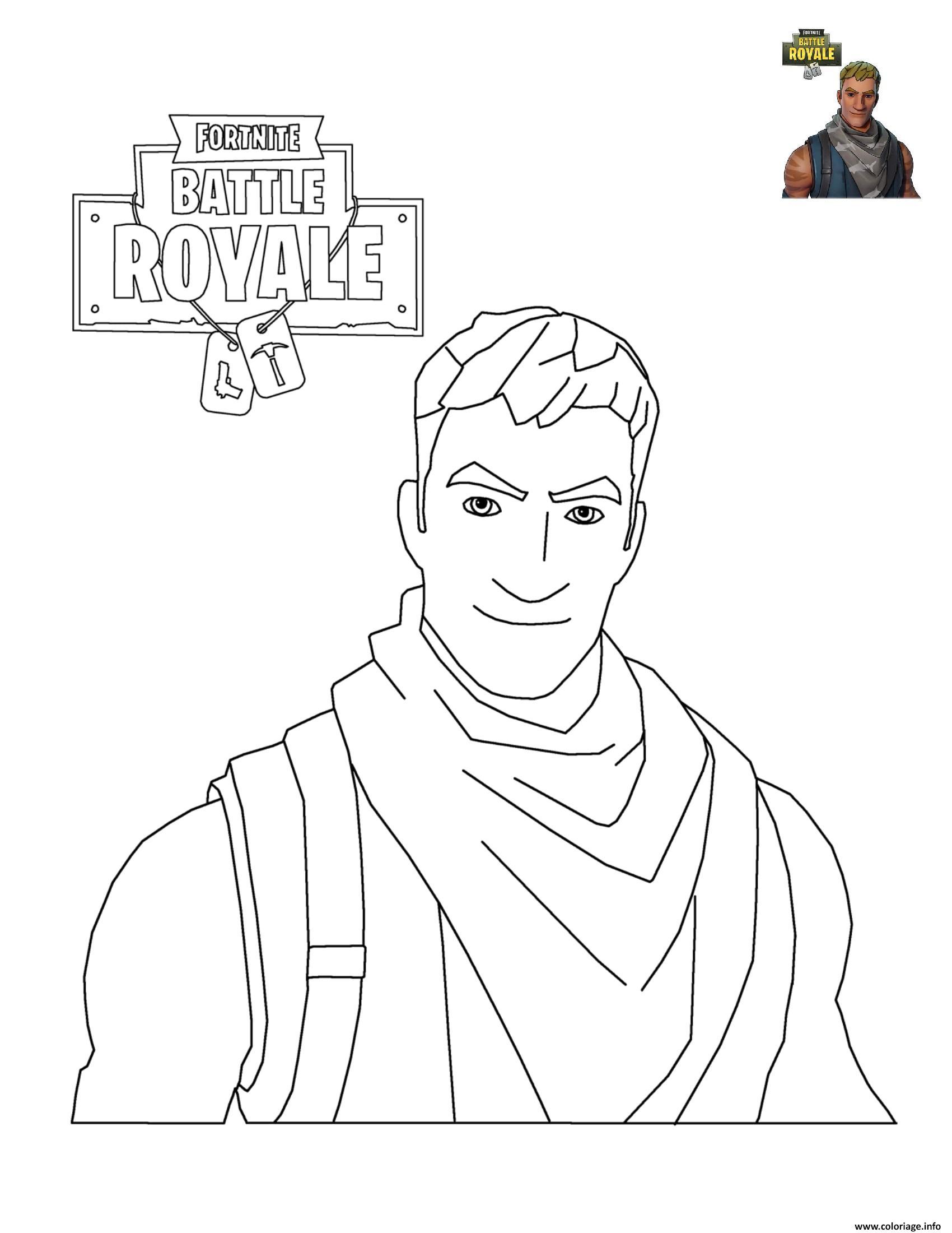 Coloriage Fortnite Battle Royale Personnage 3 Dessin avec Personnage A Colorier