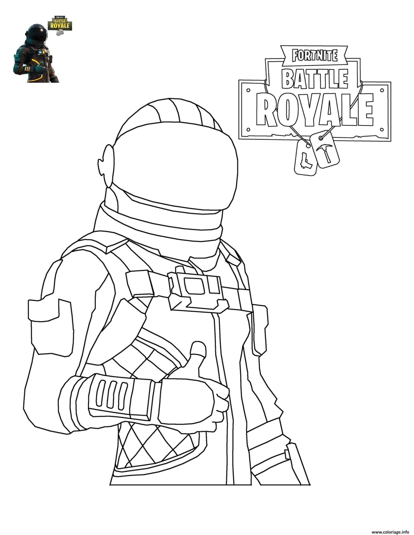 Coloriage Fortnite Battle Royale Personnage 4 À Imprimer avec Personnage A Colorier