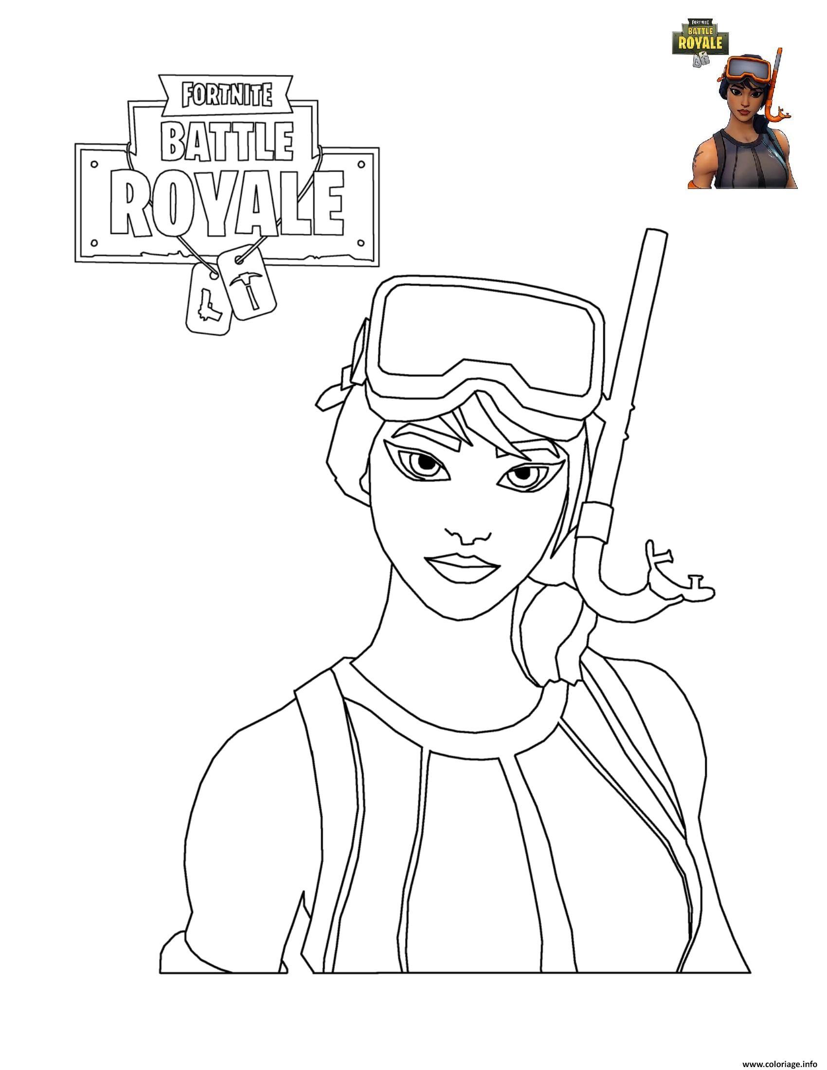 Coloriage Fortnite Battle Royale Personnage 7 À Imprimer concernant Personnage A Colorier
