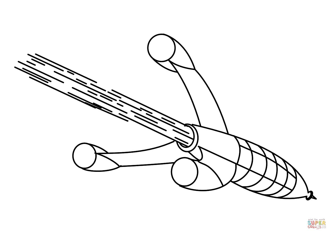 Coloriage - Fusée Dans L'espace | Coloriages À Imprimer Gratuits concernant Fusée À Imprimer