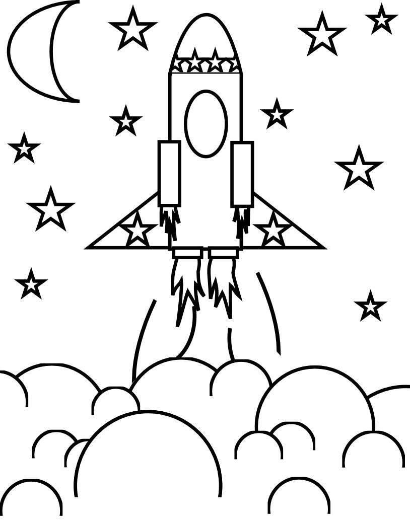 Coloriage Fusée Décolle À Imprimer Sur Coloriages pour Fusée À Imprimer