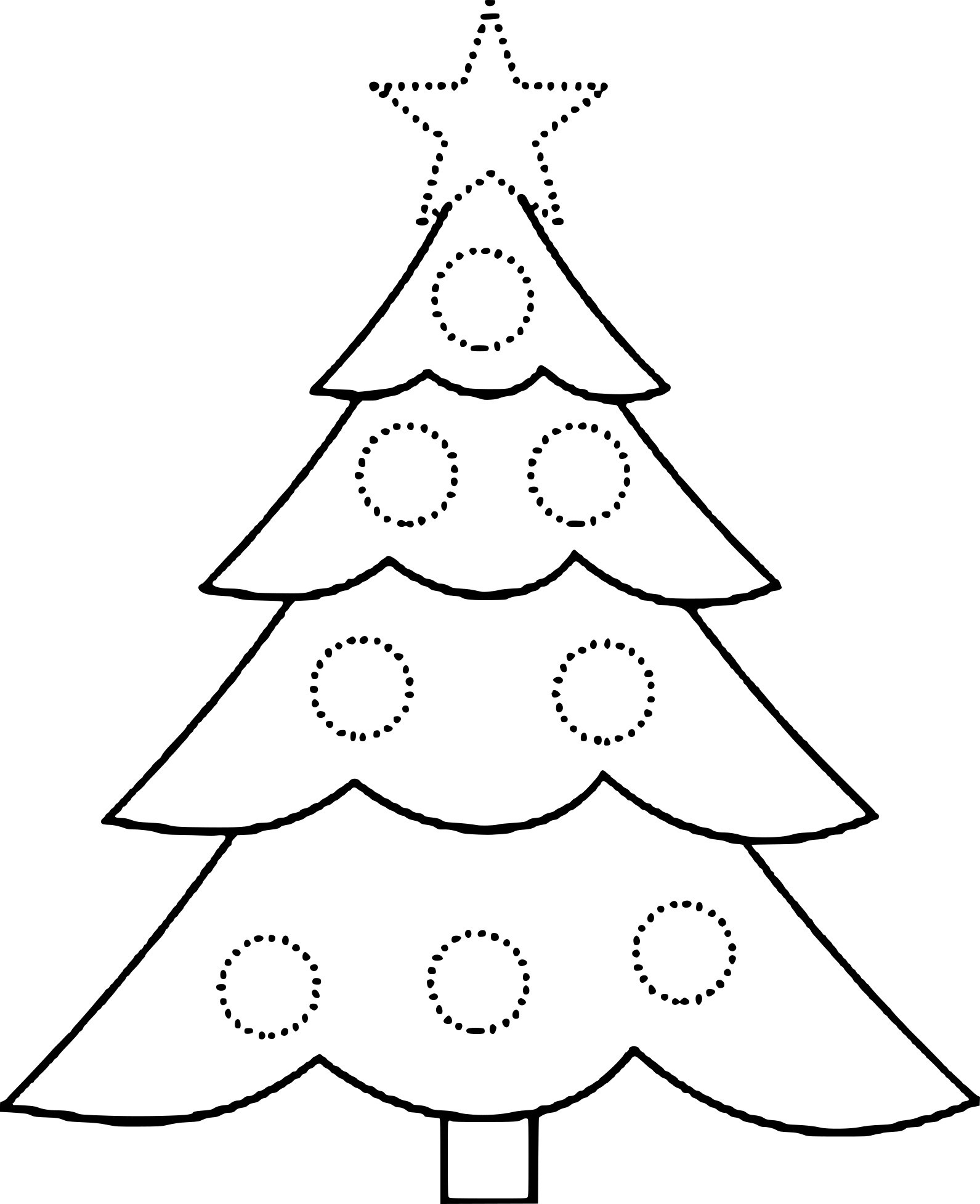 Coloriage Gabarit De Sapin Noël Dessin Gratuit Imprimer destiné Gabarit Sapin De Noel A Imprimer