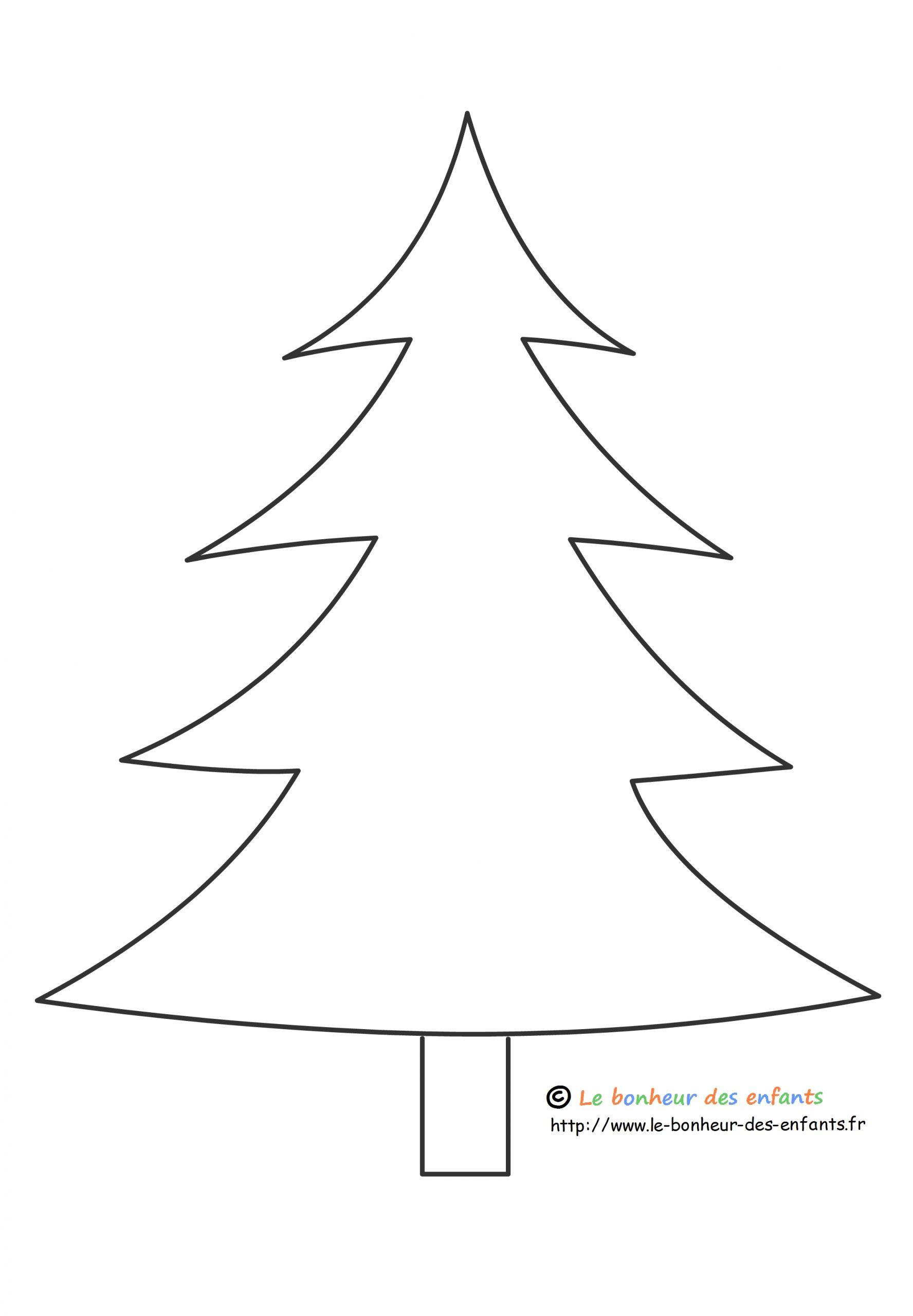 Coloriage Gabarit De Sapin Noël Dessin Gratuit Imprimer tout Gabarit Sapin De Noel A Imprimer