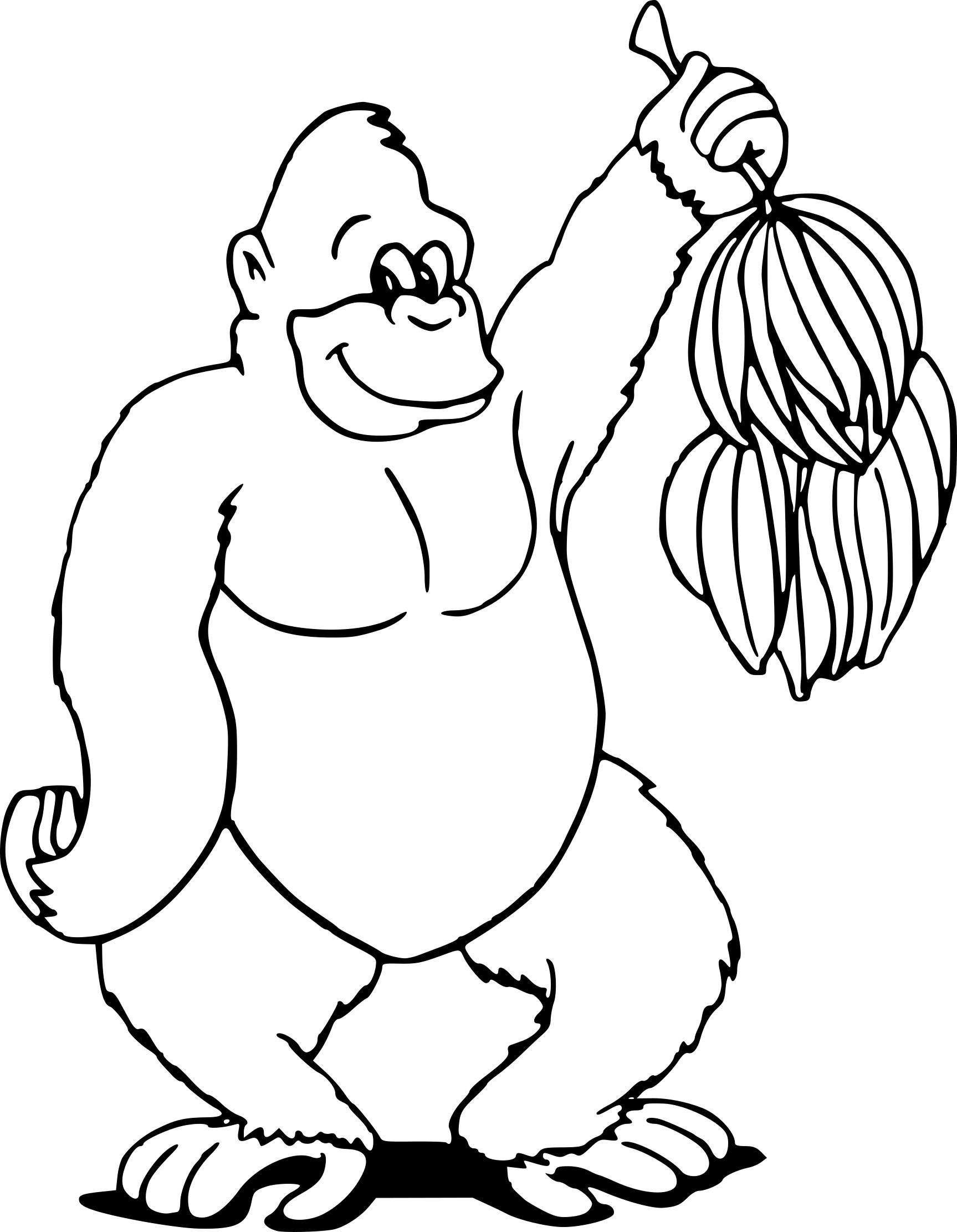 Coloriage Gorille À Imprimer Sur Coloriages intérieur Coloriage Gorille