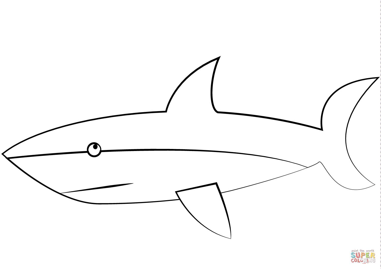 Coloriage - Grand Requin Blanc | Coloriages À Imprimer Gratuits pour Coloriage Requin Blanc Imprimer