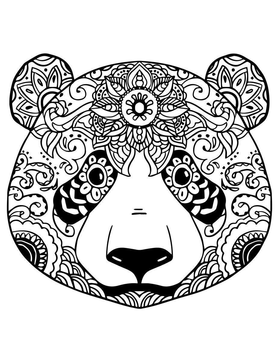 Coloriage Gratuit Adorable Panda À Colorier | Mandala Inside serapportantà Image A Colorier Gratuit A Imprimer