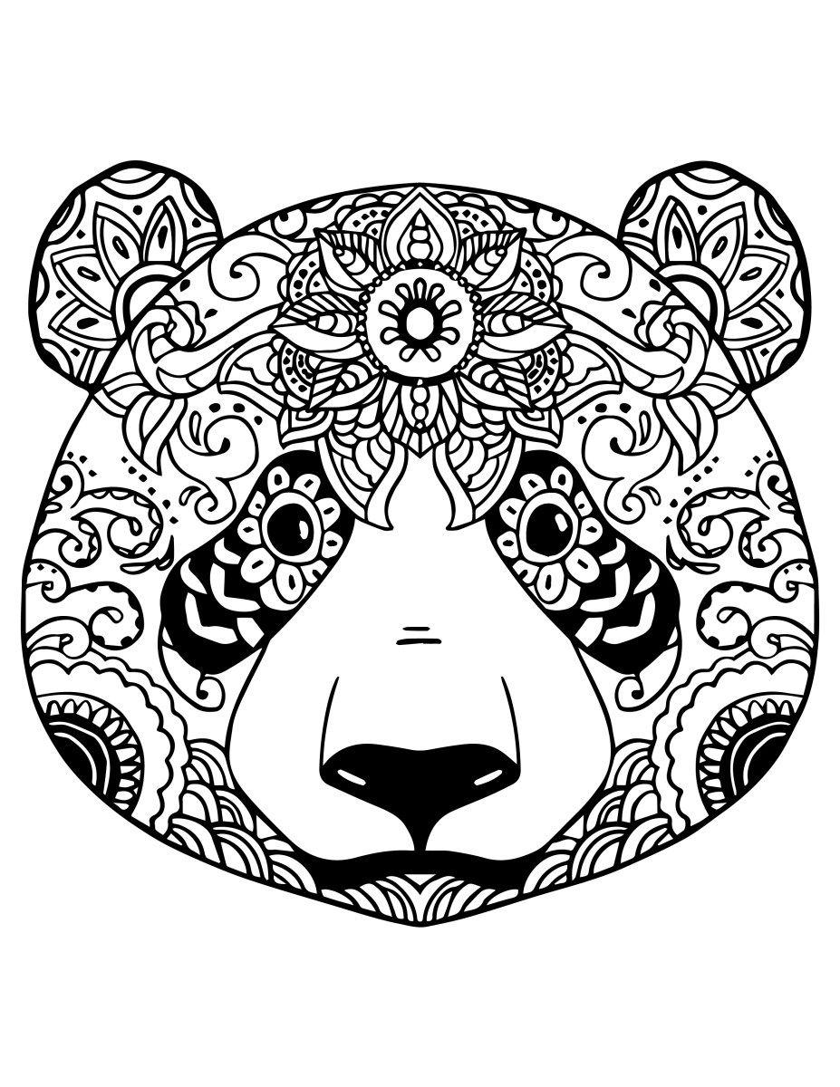 Coloriage Gratuit Adorable Panda À Colorier | Panda Coloring avec Panda À Colorier